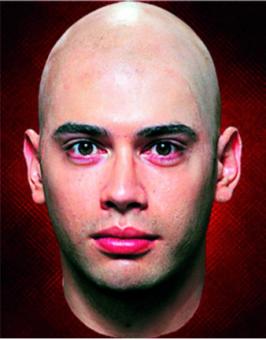 Latex Glatze (bald cap)